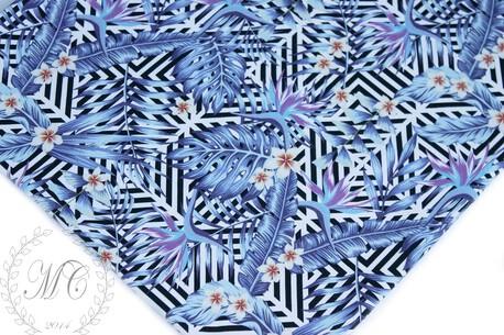 Dzianina dresowa pętelka nadruk cyfrowy wzór VIOLET FLOWERS (1)
